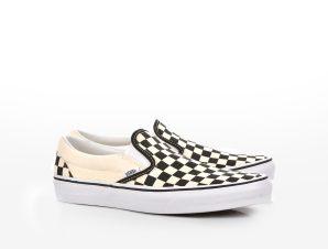 Vans – CLASSIC SLIP-ON – BLACK AND WHITE CHECKER/WHITE