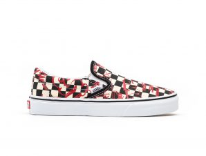 Vans – UA CLASSIC SLIP-ON – (VANS CREW) CHECKERBOARD/RED