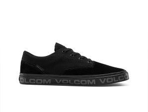 Volcom – DRAW LO SUEDE SHOE – BLACKITY BLACK