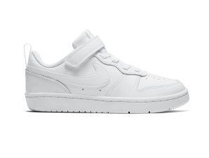 Nike – NIKE COURT BOROUGH LOW 2 (PSV) – WHITE/WHITE-WHITE