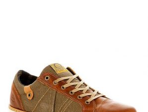 Bullboxer Δερμάτινα Sneakers με Ύφασμα
