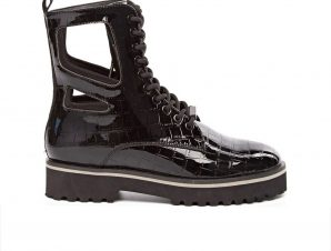 Kendall and Kylie – K&K SHOES LANGMORE CROCO-78534 * BLK/BLK – BLK/BLK