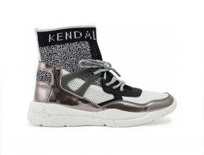Kendall and Kylie – K&K SHOES KKNORTH-I 74117 PEWTER-BLACK-WHITE – TYPE