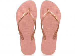 Havaianas – SLIM LOGO METALLIC – ROSE NUDE/ROSE GOLD