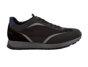 Harmont & Blaine ανδρικά sneakers με suede λεπτομέρεια – EFM202093-6510 – Μαυρο