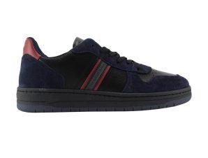 Harmont & Blaine ανδρικά sneakers με suede λεπτομέρειες και τρέσα με logo – EFM202170-6270 – Μαύρο
