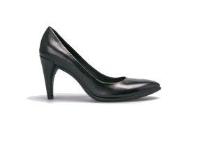 ECCO γυναικείες δερμάτινες γόβες Shape 75 Pointy – 269503 – Μαύρο