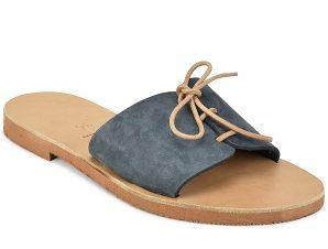 Δερμάτινη γκρι σαγιονάρα Iris Sandals IR8/8