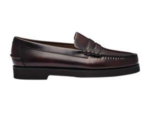 "Sebago® ανδρικά penny loafers δερμάτινα ""Dan Polaris"" – L7001GW0-903R – Μπορντό"