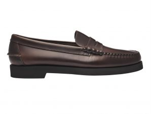 "Sebago® ανδρικά penny loafers δερμάτινα ""Dan Waxy Polaris"" – L7001H90-901W – Καφέ"