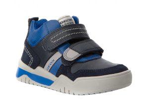 "Geox παιδικά sneakers με suede λεπτομέρειες ""Perth"" – J847RD-1 – Μπλε Σκούρο"