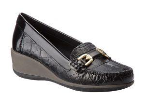 "Geox γυναικεία loafers με σχέδιο croco ""Arethea"" – D841SB"