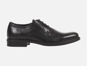 "Geox ανδρικά δερμάτινα παπούτσια oxford ""Carnaby"" – U52W1D – Μαύρο"