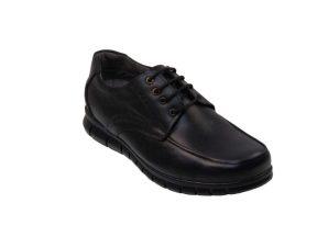 Tsimpolis Shoes 384 Casual Ανδρικό Δετό Δερμάτινο Μαύρο