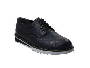 Tsimpolis Shoes PR13 Ανδρικό Δετό Από Τεχνόδερμα Μπλε