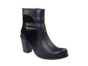 Tsimpolis Shoes 0316 Μποτάκι Δερμάτινο Με Καστόρι Μαύρο