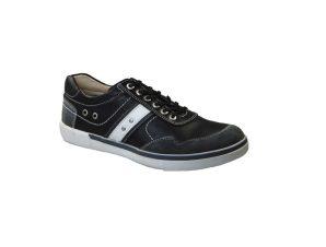 Tsimpolis Shoes 15000 Sneaker Δερμάτινο Μαύρο