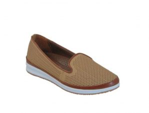Tsimpolis Shoes 134 Γυναικείο Casual Από Τεχνόδερμα Σκούρο Μπέζ