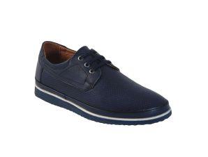 Tsimpolis Shoes 1155 Ανδρικό Δερμάτινο Δετό Μπλέ