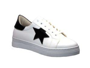 Tsimpolis Shoes 876 Sneaker Γυναικείο Απο Τεχνοδέρμα Λευκό – Μαύρο