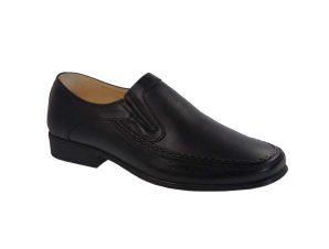 Tsimpolis Shoes 614 Ανδρικό Slip On Δερμάτινο Μαύρο