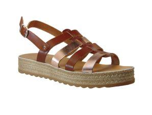 Tsimpolis Shoes 2288 Πέδιλο Απο Γνήσιο Δέρμα Ταμπά – Χάλκινο