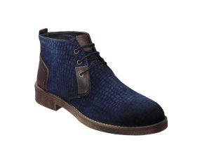 Tsimpolis Shoes 160 Ανδρικό Μποτάκι Δερμάτινο Καστόρι Μπλέ