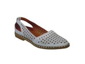Tsimpolis Shoes TS716 Γυναικείο Slip On Δερμάτινο Λευκό