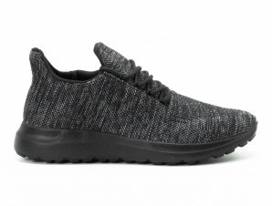 Ανδρικά μαύρα μελάνζ αθλητικά παπούτσια