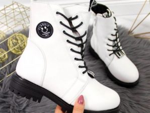 Boots insulated asymmetric Jr EVE322B white