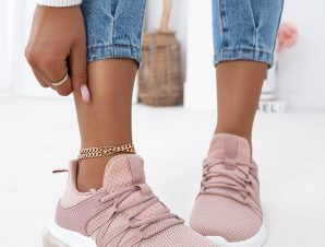 CLAIRE DUSTY PINK SNEAKERS