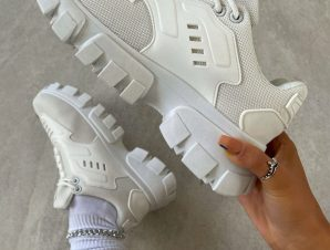 DO IT WHITE SNEAKERS
