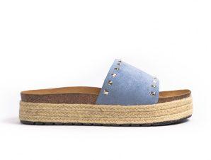 Γυναικείες γαλάζιες παντόφλες Sweet Shoes