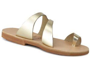 Δερμάτινη χρυσή σαγιονάρα Iris Sandals IR20/1