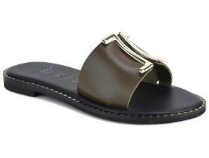 Δερμάτινo λαδί σανδάλι Iris Sandals IR201