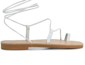 Δερμάτινο λευκό σανδάλι Iris Sandals IR241
