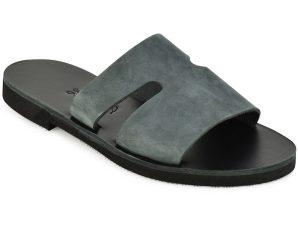 Δερμάτινη γκρι σαγιονάρα Iris Sandals IR8/19