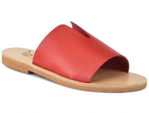 Δερμάτινη κόκκινη σαγιονάρα Iris Sandals IR9/26