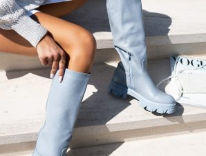 JESSICA BABY BLUE BOOTS
