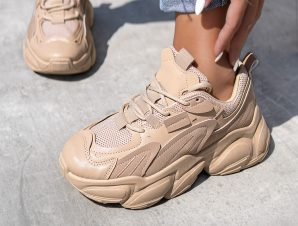 LARRY OFF CAMEL SNEAKERS