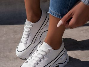 LOW TRACKY WHITE SNEAKERS