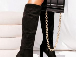 LUPINE BLACK SUEDE BOOTS
