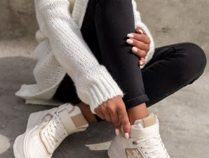 MIRLENA WHITE & GOLD SNEAKERS