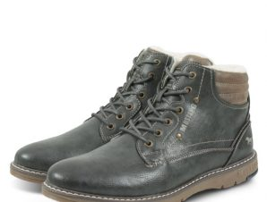 Mustang Men Lace-Up 4105608 Ανθρακί