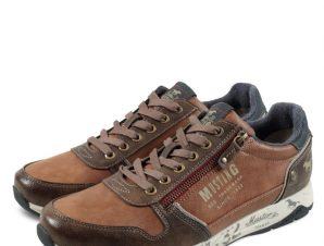 Mustang Men Lace up Shoes 4106309 Καφέ