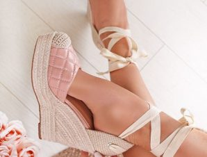 NELL PINK CAPITONE PLATFORMS