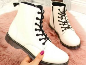 Warm lacquered boots Miss?E Jr EVE251B white